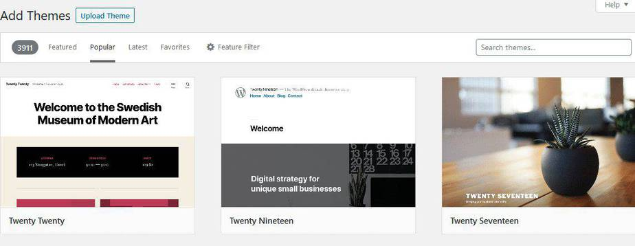 how to add new theme in wordpress blog